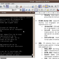 Ler documentos ODT nun terminal